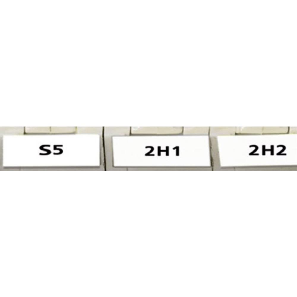 Etikete za označevanje kablov Helatag 5.1 x 16.5 mm označevalno polje: bele barve HellermannTyton 594-01101 TAG11LA4-1101-WH Anz