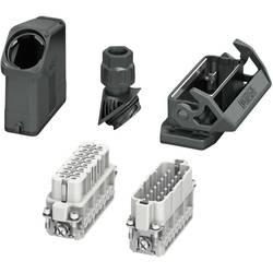 Set s konektorskim kućištem, vijčani priključak, umetak sa ženskim i muškim kontaktima HC-EVO-A16UT-BWS-HH-M25-PLRBK Phoenix Con
