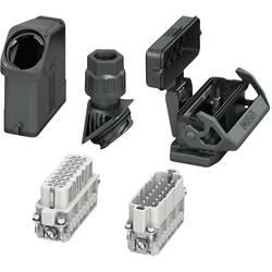 Set s konektorskim kućištem, vijčani priključak, umetak sa ženskim i muškim kontaktima HC-EVO-A16UT-BWSC-HH-M25-PLRBK Phoenix Co
