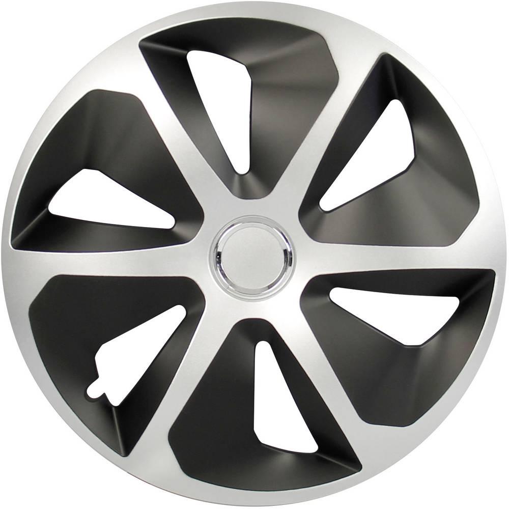 Ratkape, ukrasni poklopci kotača Rocco R15 srebrne boje/crne boje 4 komada cartrend