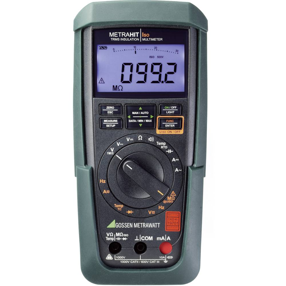 Gossen Metrawatt Metrahit Iso merilnik izolacije DAkkS CAT III 600 V