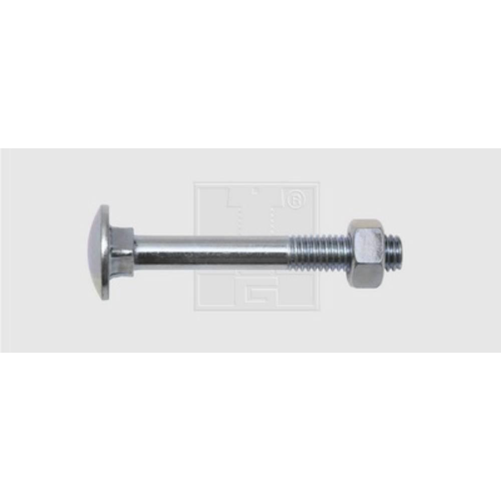 Flat rund skruvar SWG M8 60 mm Yttersexkant DIN 603 Stål förzinkad 25 st