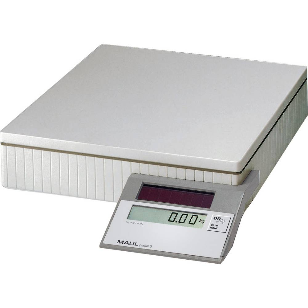 Tehtnica za pakete Maul MAULparcel S 50 območje tehtanja do 50 kg, natančnost: 10 g, 50 g solarno napajanje Grau