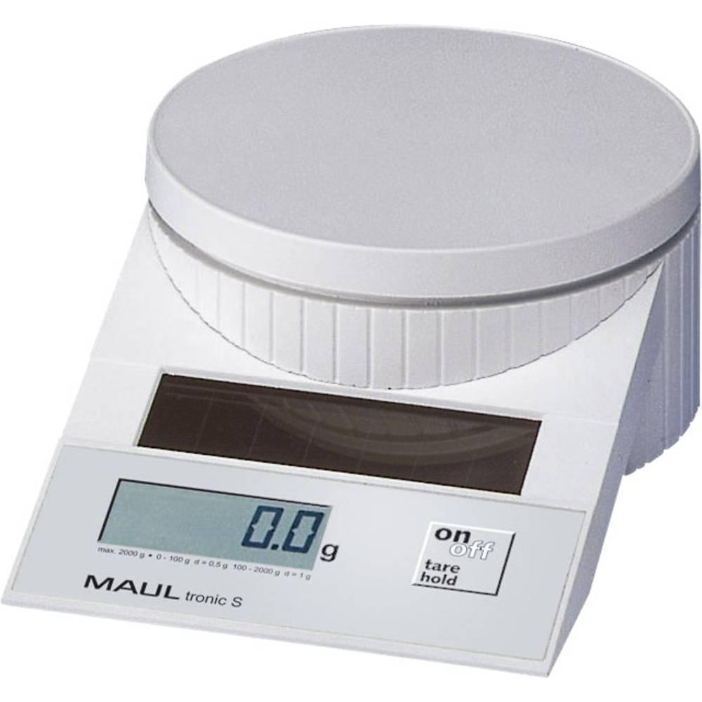 Pisemska tehtnica Maul MAULtronic S 2000 območje tehtanja do 2 kg, natančnost: 0.5 g bele barve