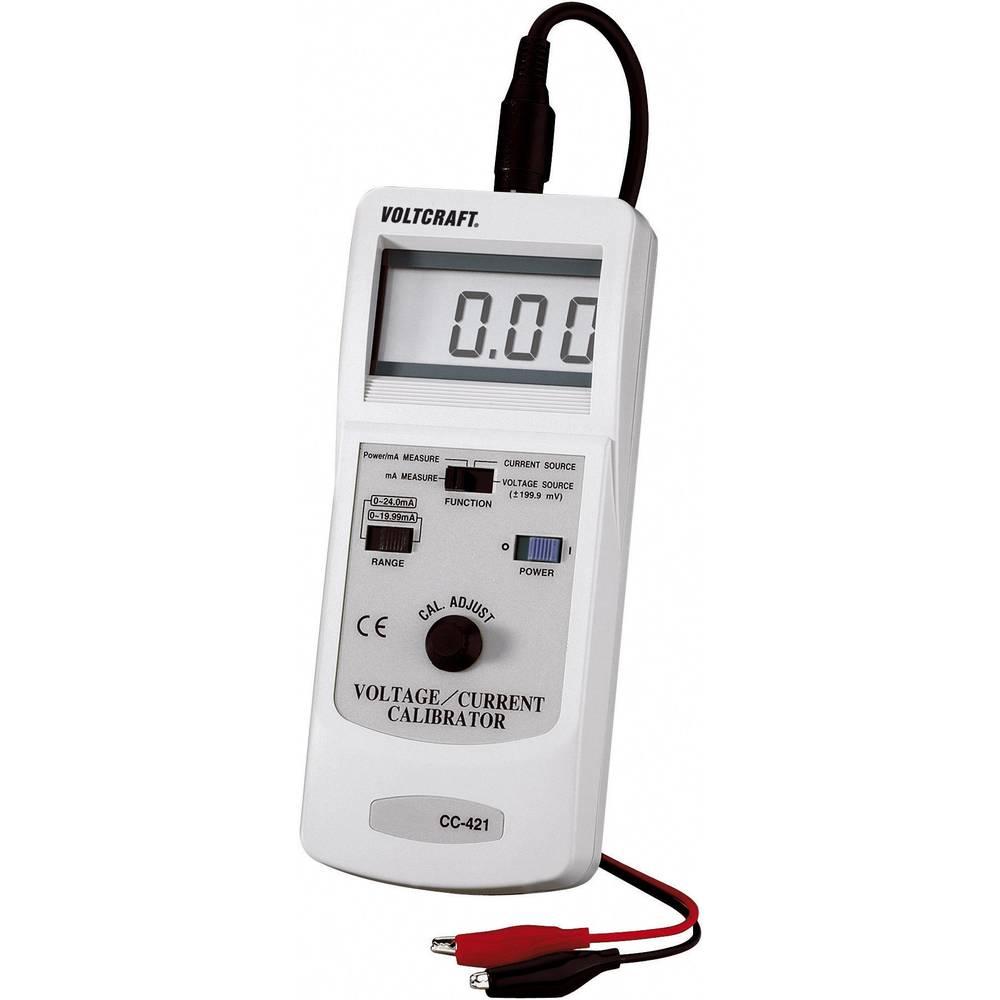 VOLTCRAFT CC-421 tokovni in napetostni kalibrator kalibracija narejena po ISO