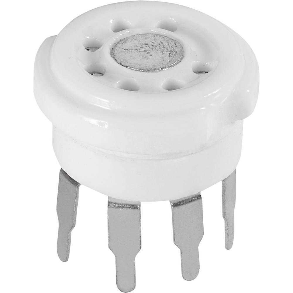 Podnožje cijevne elektronike 1 kom. 120510 broj polova: 7 vrsta montaže: tiskana pločica materijal: keramika