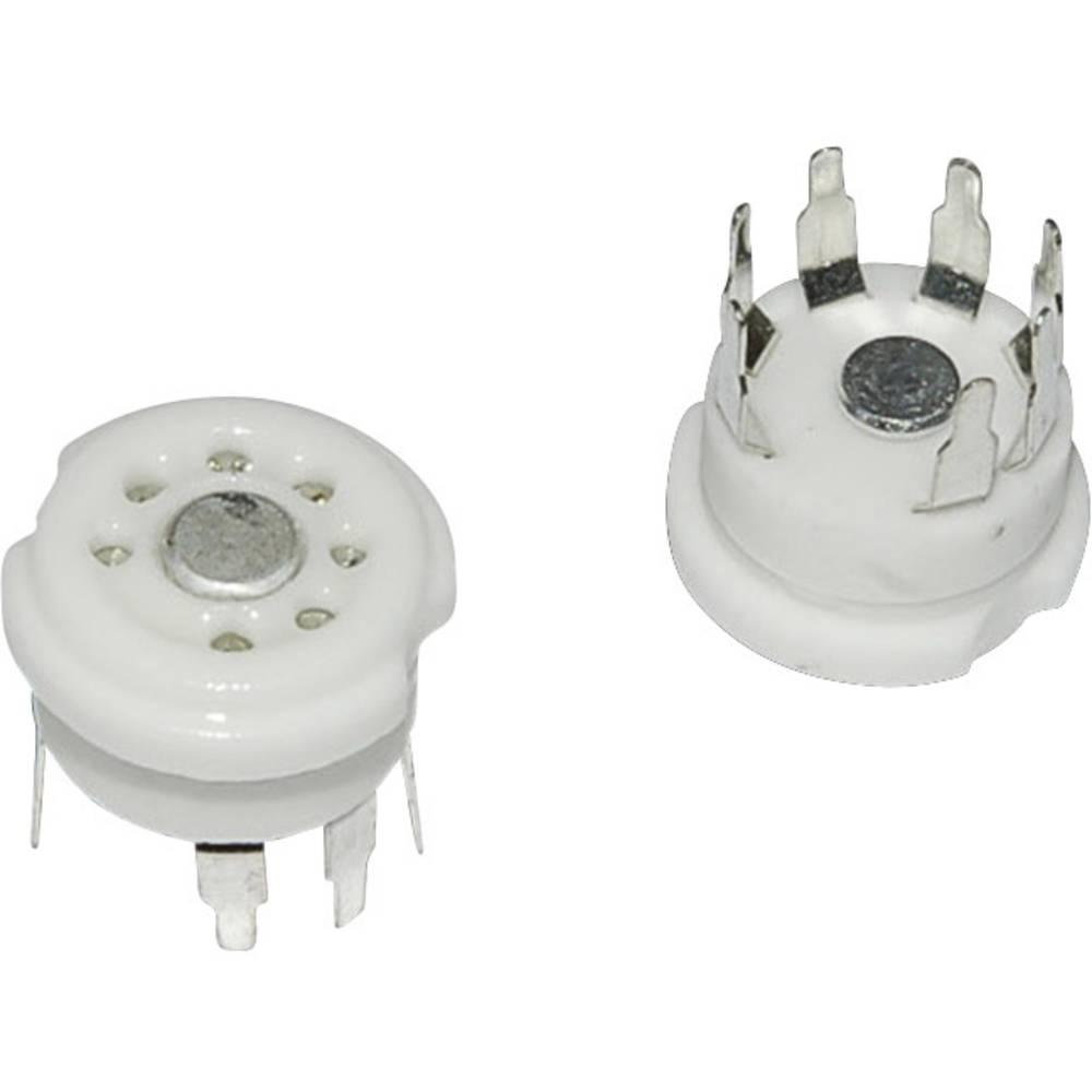 Podnožje elektronke 1 kom. 120510 št. polov: 7 vrsta montaže: tiskano vezje material: keramika