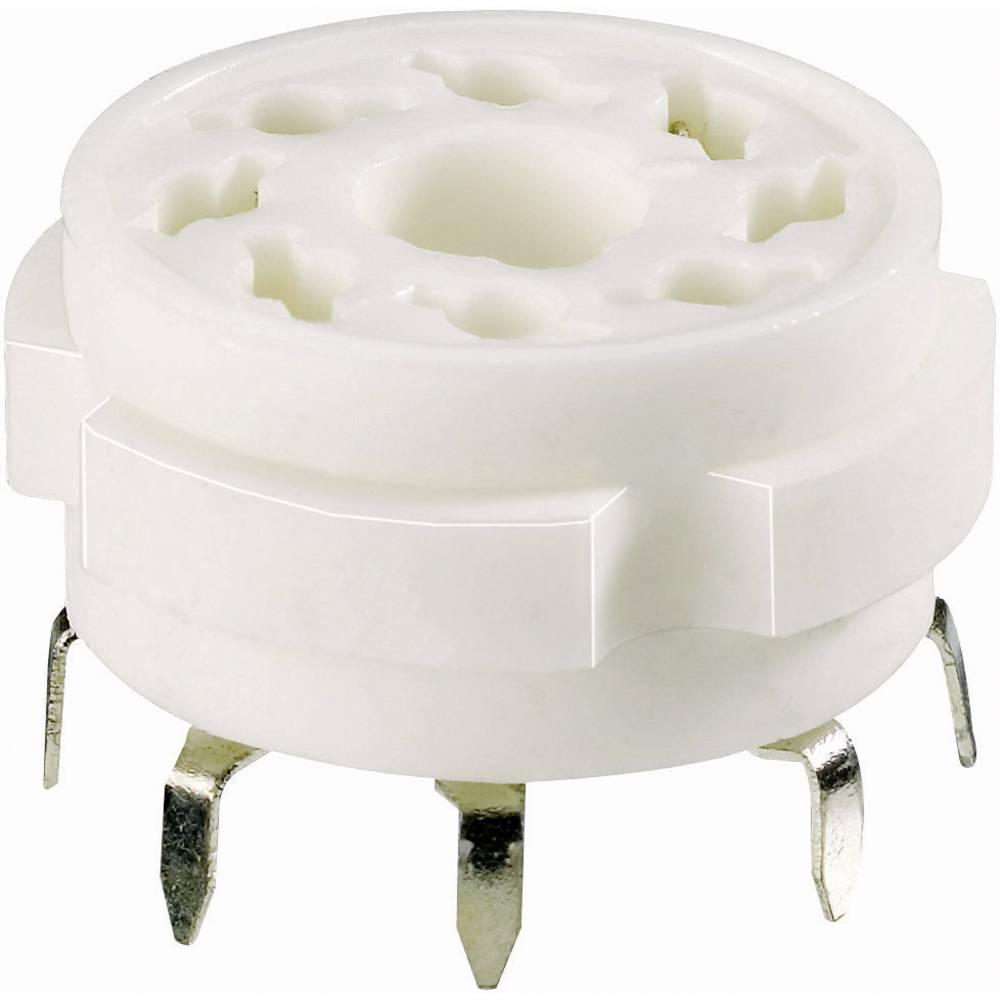 Podnožje elektronke 1 kom. 120537 št. polov: 8 podnožje: loktalno vrsta montaže: tiskano vezje material: keramika