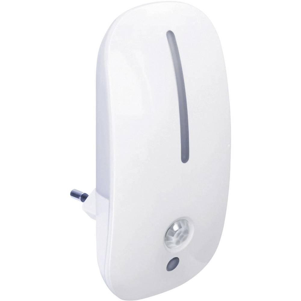 Nočna lučka z javljalnikom gibanja GEV LIV 6867, ovalna, LED, topla bela svetloba, bele barve