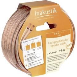 Kabel za zvočnik transparentni Inakustik 003020010 10 m