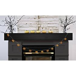 Dekoracija za noč čarovnic, LED svetlobna veriga z motivi buč, oranžne barve