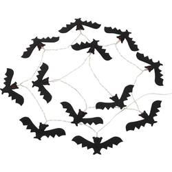Dekoracija za noč čarovnic, LED svetlobna veriga z motivi netopirjev, črne barve