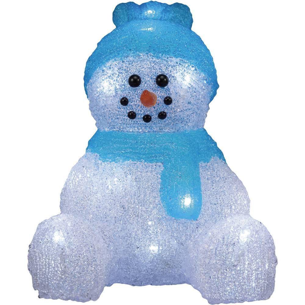 Božična figura, snežak, akril LED, Polarlite LBA-52-001, beli