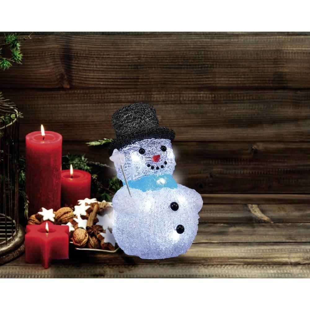 Božična figura, snežak, akril LED, Polarlite LBA-52-002, beli