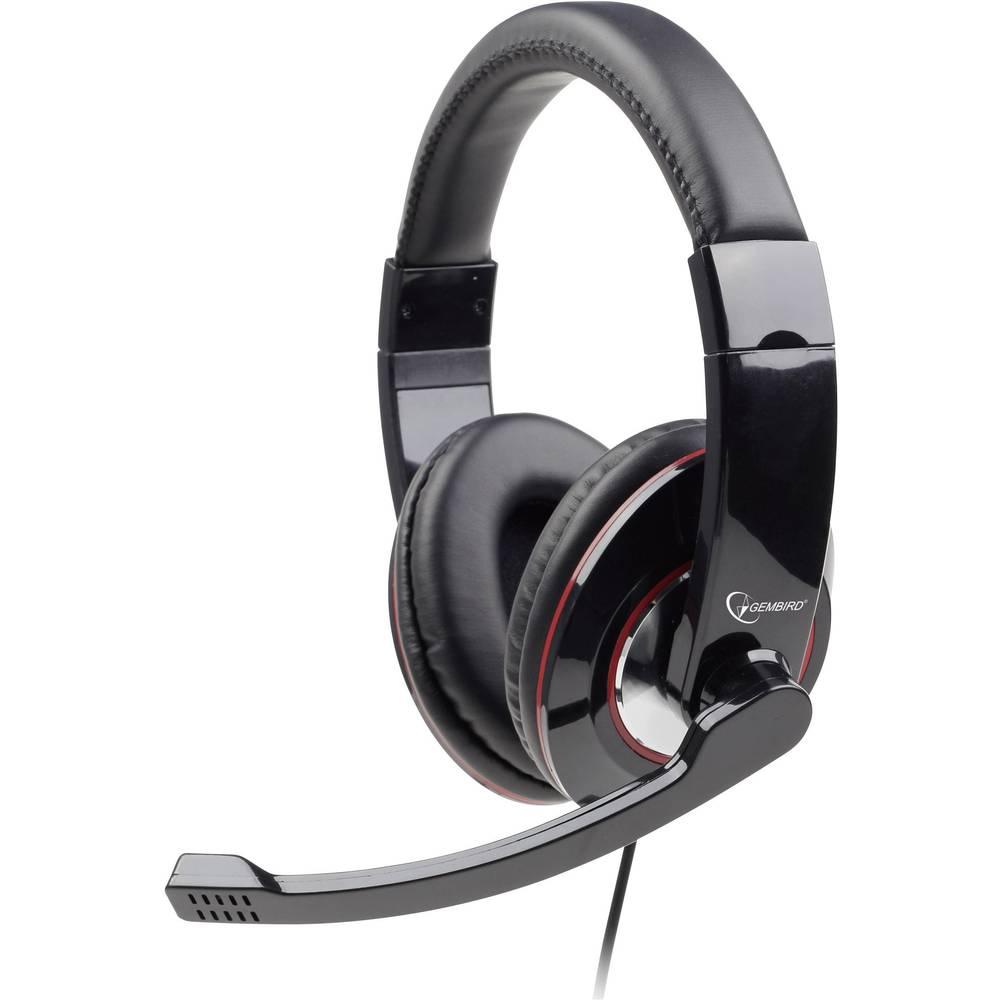 Gembird MHS-001, stereo slušalice s mikrofonom, crne