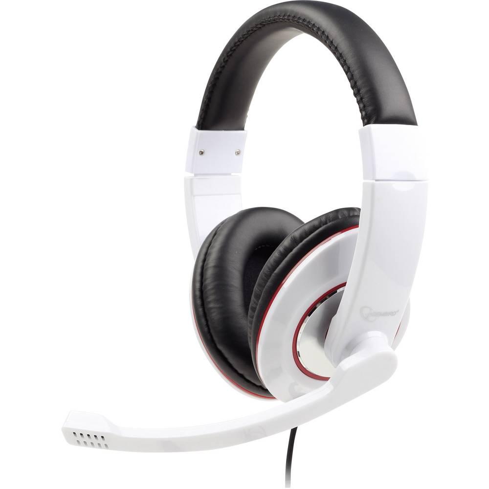Gembird MHS-001-GW, stereo slušalice s mikrofonom, bijele
