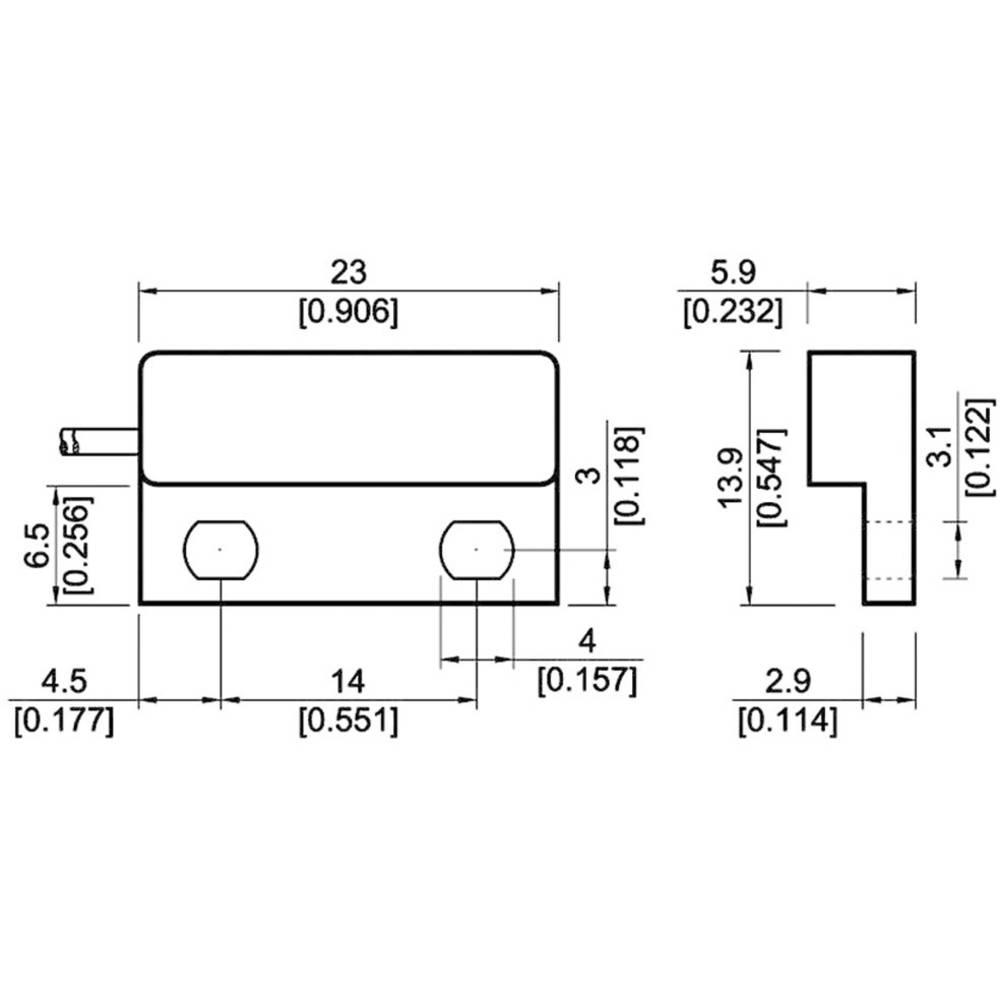 Reed-stikalo-zapiralno 180 V/DC, 180 V/AC 0.5 A 10 W StandexMeder Electronics MK04-1A66C-500W