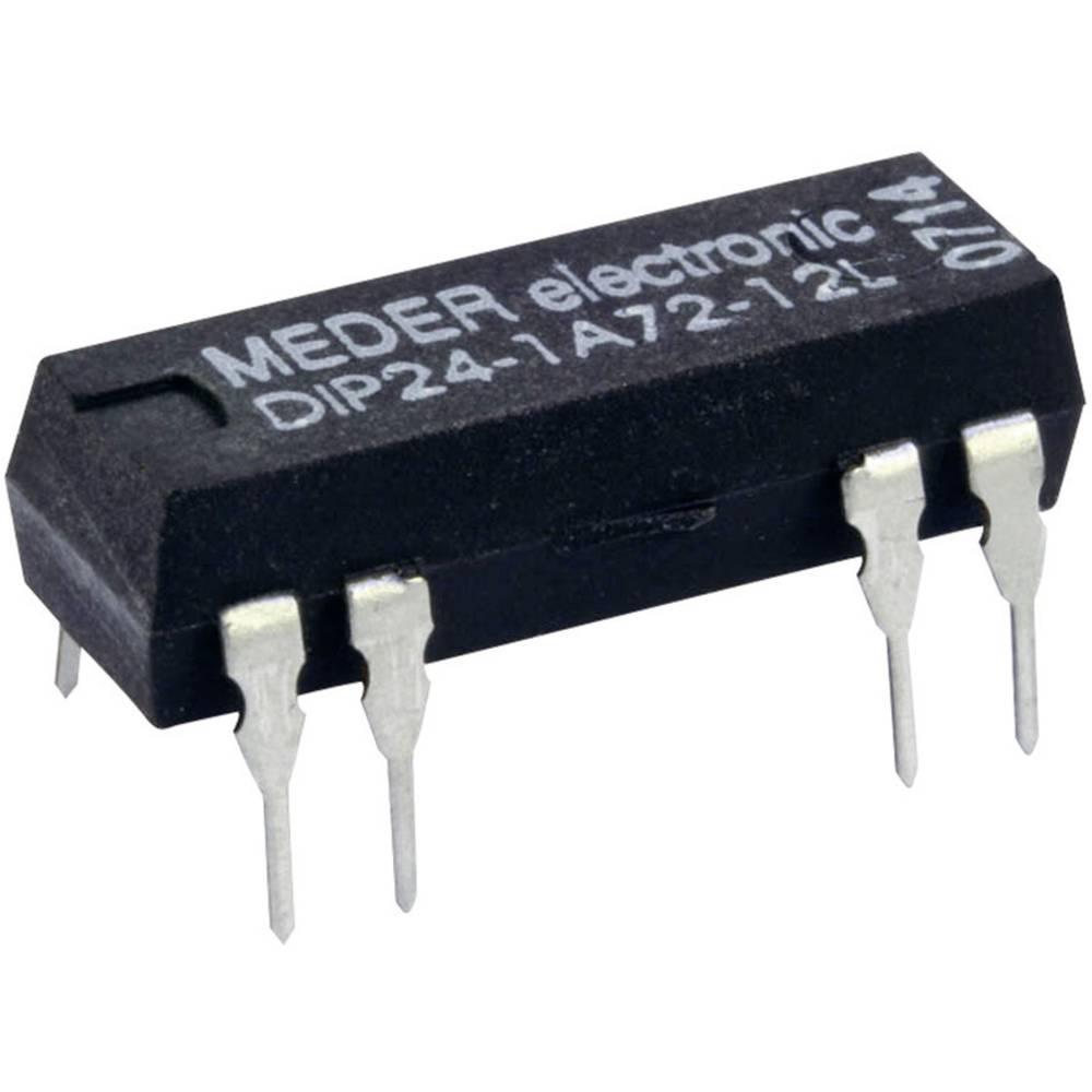 Reed-relæ 1 x sluttekontakt 24 V/DC 1 A 10 W DIP-8 StandexMeder Electronics DIP24-1A72-12D