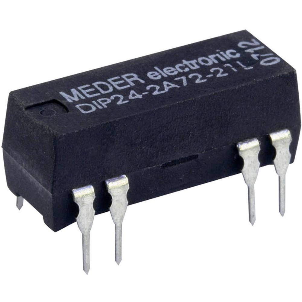 Reed-relæ 2 x sluttekontakt 24 V/DC 0.5 A 10 W DIP-8 StandexMeder Electronics DIP24-2A72-21L
