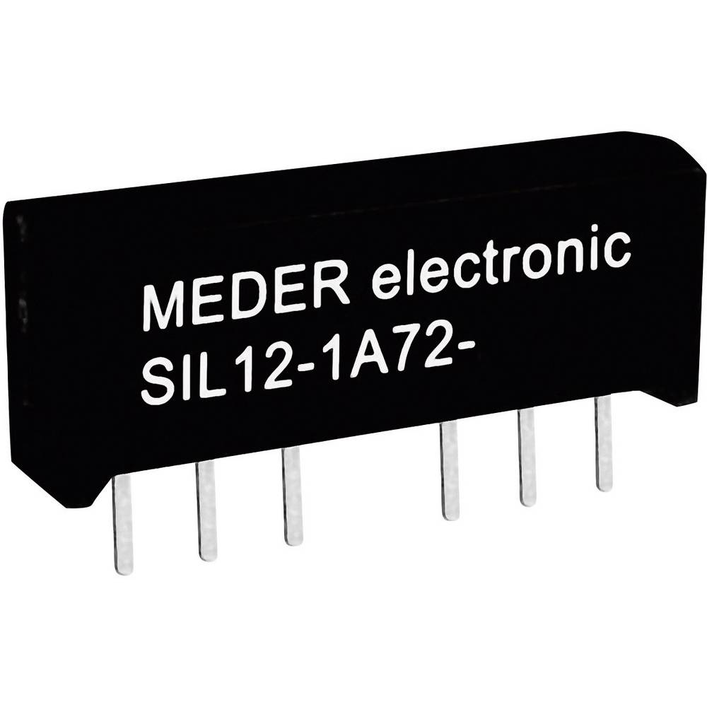 Reed-Relais (value.1292911) 1 Schließer (value.1345270) 12 V/DC 1 A 15 W SIL-4 StandexMeder Electronics SIL12-1A72-71L