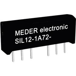 Reed-releji-zapiralni 12 V/DC 0.5 A 10 W SIL-4 StandexMeder Electronics SIL12-1A72-71D