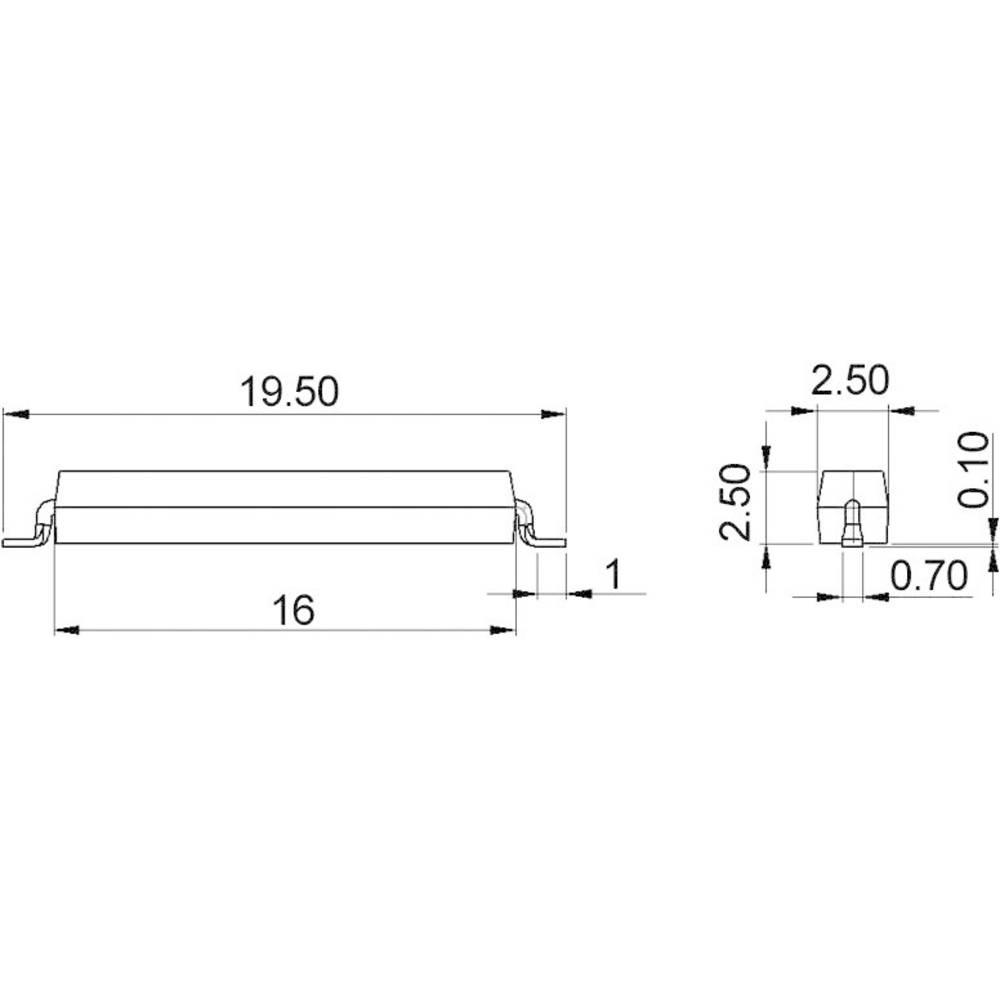 SMD-Reed-stikalo-zapiralno 180 V/DC, 180 V/AC 0.5 A 10 W StandexMeder Electronics MK15-C-2