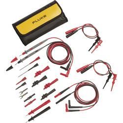 Varnostni-merilni kabelski komplet [ lamelni vtič 4 mm - lamelni vtič 4 mm] 1 m črne barve, rdeče barve Fluke TL81A