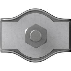 Stezaljka za čelično uže 2 mm galvansko pocinčani čelik dörner + helmer 4814384 20 kom.