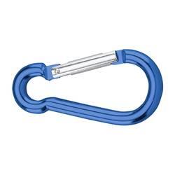 dörner + helmer 4815704 karabin, aluminij, modre barve, eloksiran 60 mm 20 kosov