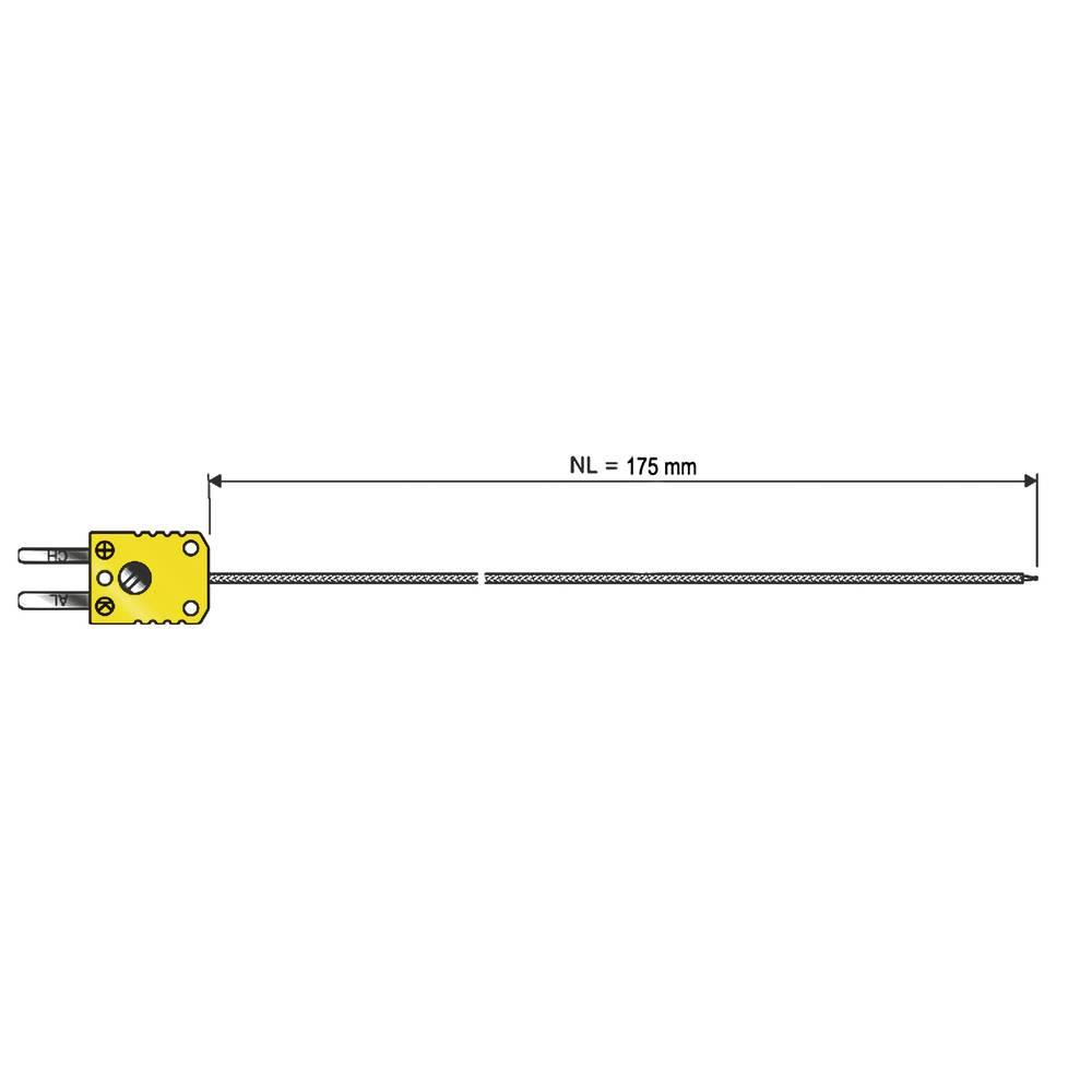 Kalib. ISO-Ubodni osjetnik tipa K, kruti,-50 do +1000 °C, O 1,5 mm, nazivna dužina 175 mm 0600 1030-10 B & B Thermotechnik
