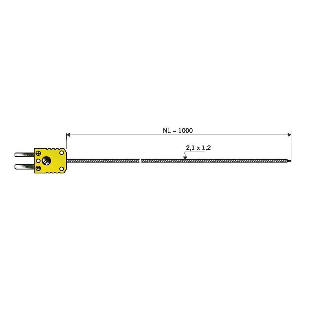 Tipalo za zrak B+B Thermo-Technik TE tipalo 1xK NL 1000 kalibracija narejena poISO