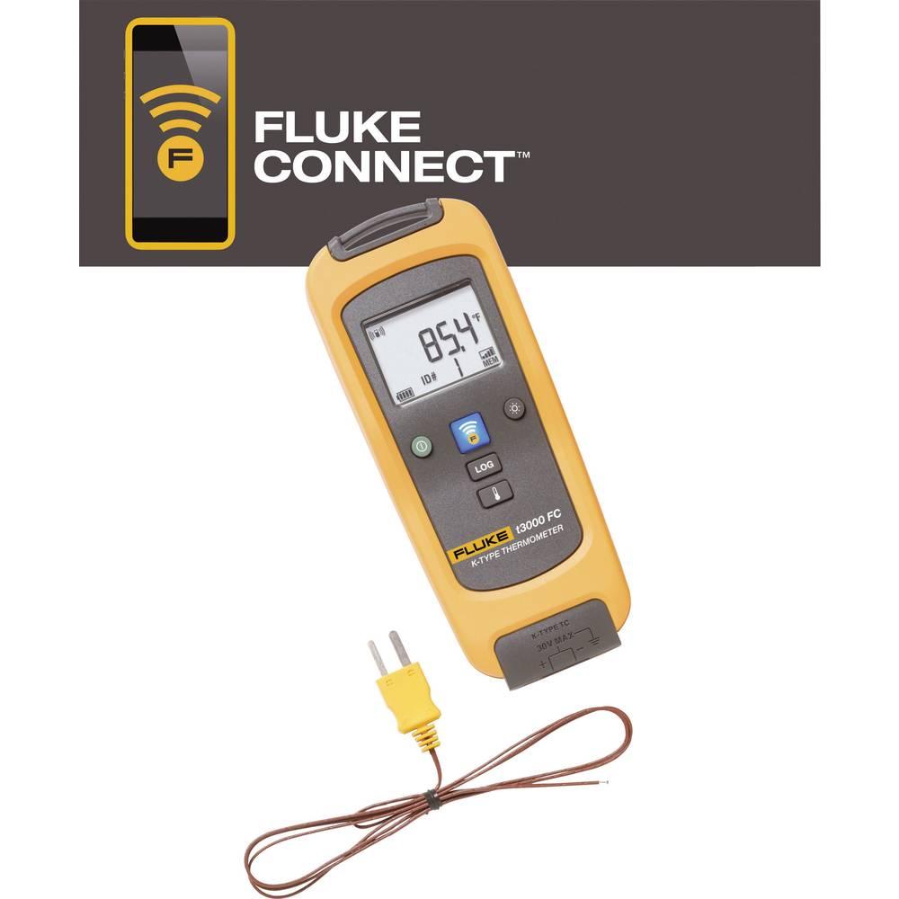 Mjerač temperature Fluke Fluke -200 do +1372 °C funkcija zapisivanja podataka kalibriran prema: tvorničkom standardu