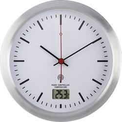 Radijski kontrolirani zidni sat Renkforce E1003R 17 cm x 6 cm srebrne boje za vlažne prostorije