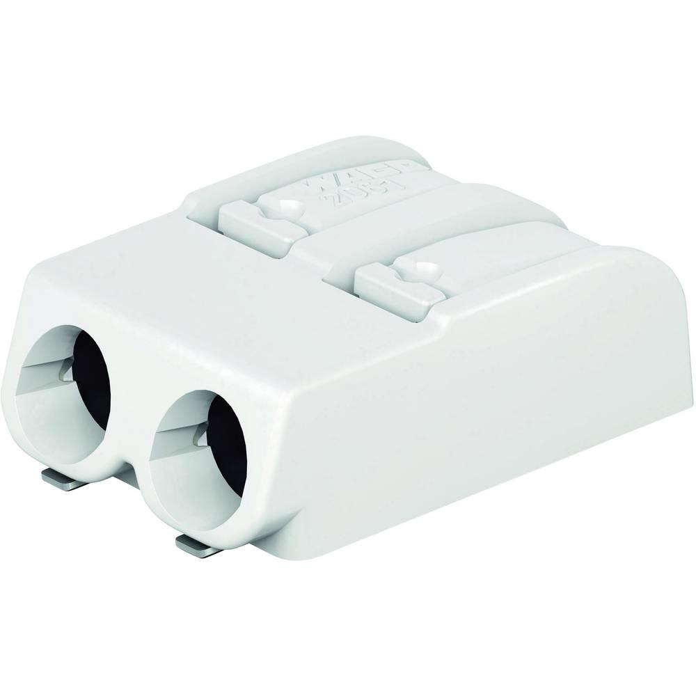 SMD-printpladeklemme WAGO 1.50 mm² Poltal 2 Hvid 1 stk