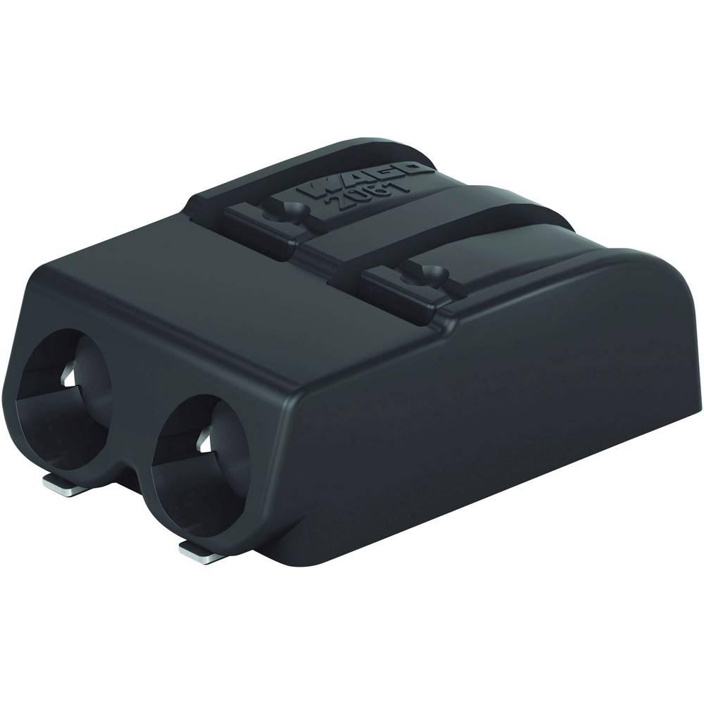 Vzmetni priključni blok 1.50 mm število polov: 2 2061-622/998-404 WAGO črne barve 1 kos