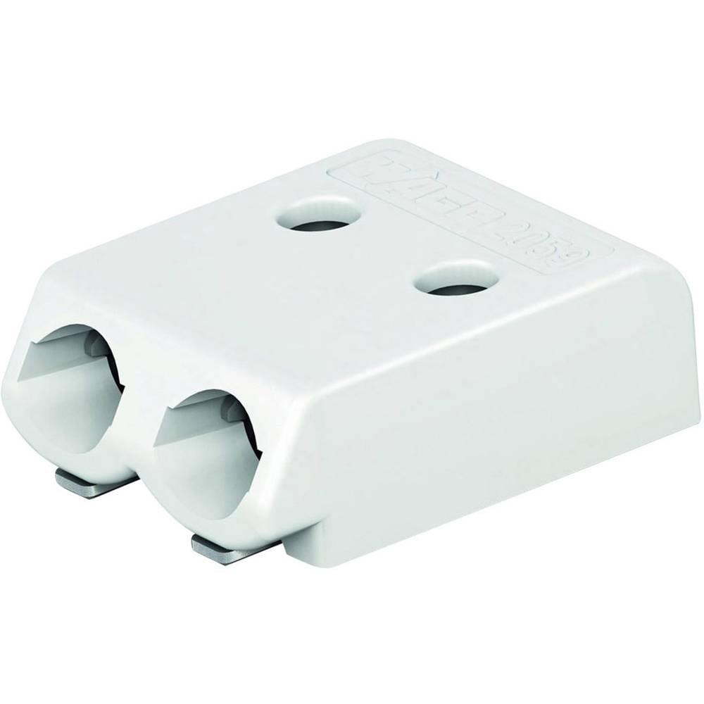Fjederkraftsklemmeblok WAGO Poltal 2 Hvid 1 stk