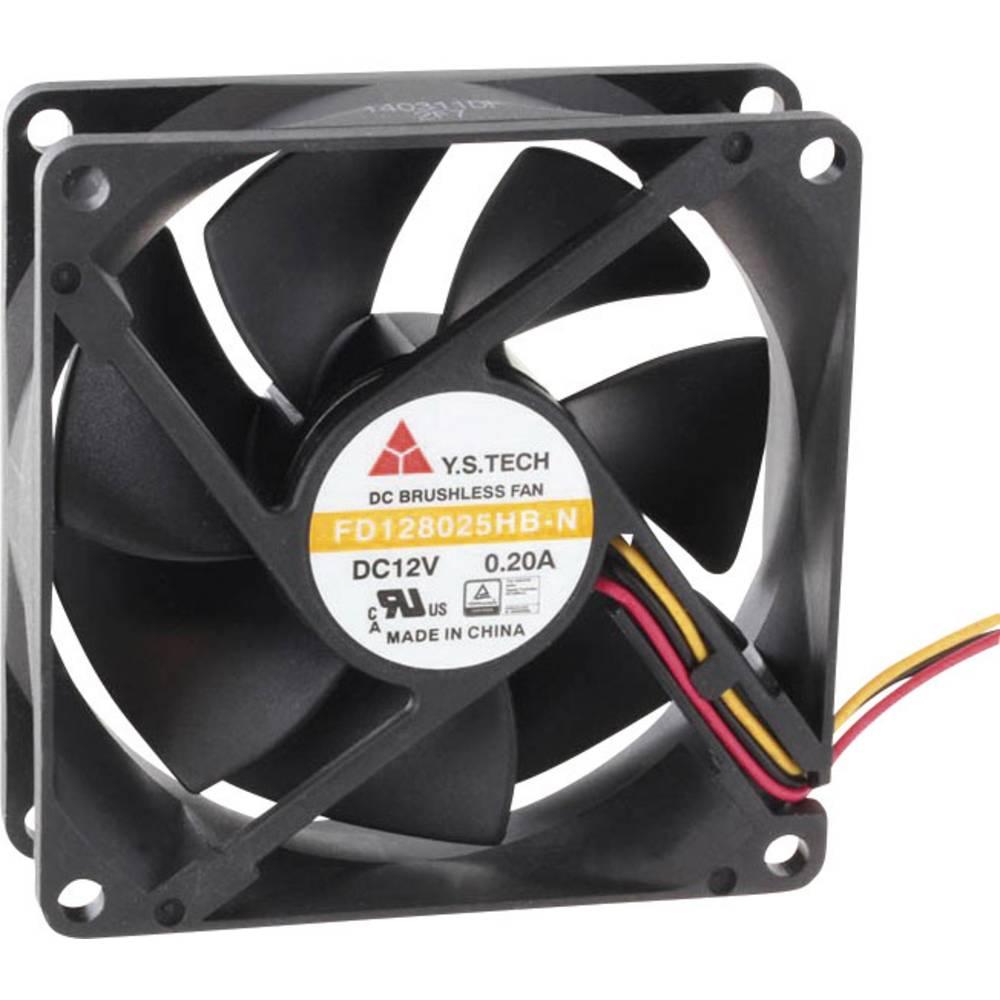 Aksial ventilator 12 V/DC 70.68 m³/h (L x B x H) 80 x 80 x 25 mm FD128025HB-N(2F7)
