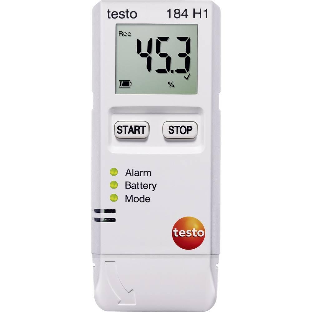 Večnamenski zapisovalnik podatkov testo 184 H1 merjenje temperature, vlažnosti zraka -20 do 70 °C 0 do 100 % rF kalibracija nare