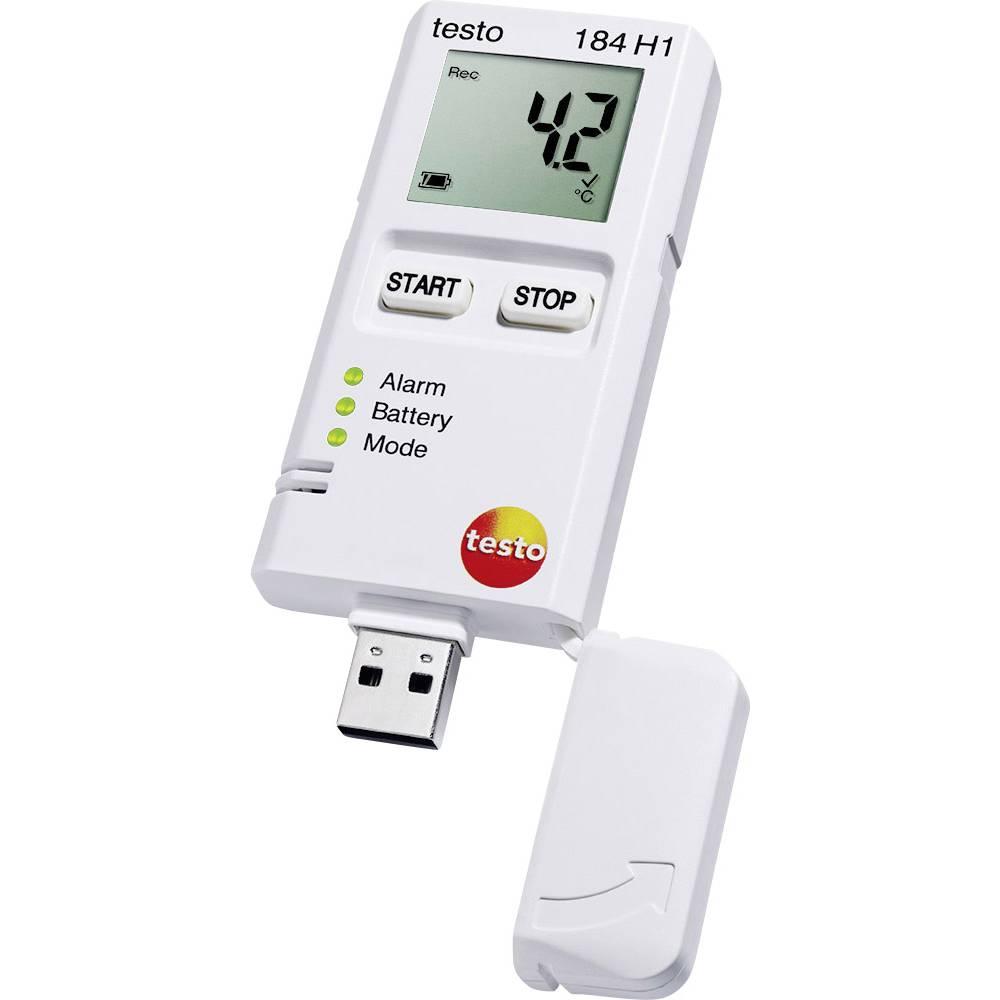 Višenamjenski zapisivač podataka testo 184 H1 mjerenje temperature, vlage -20 do +70 °C 0 do 100 % rF kalibrirano prema tvorničk