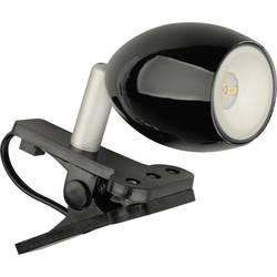 JEDI Lighting LED-svetilka s sponko Ara, 1,5 W, črne barve JE20019