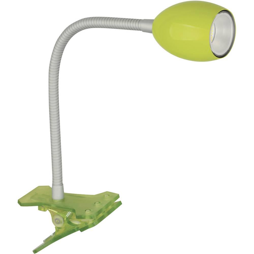 TLT International LED-svetilka s sponko Norma, 1,5 W, zelene barve JE20116