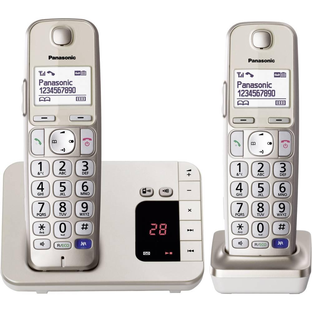Bežični telefon za starije osobe Panasonic KX-TGE222 Duo telefonska sekretarica, telefoniranje slobodnih ruku, osvijetljeni zasl