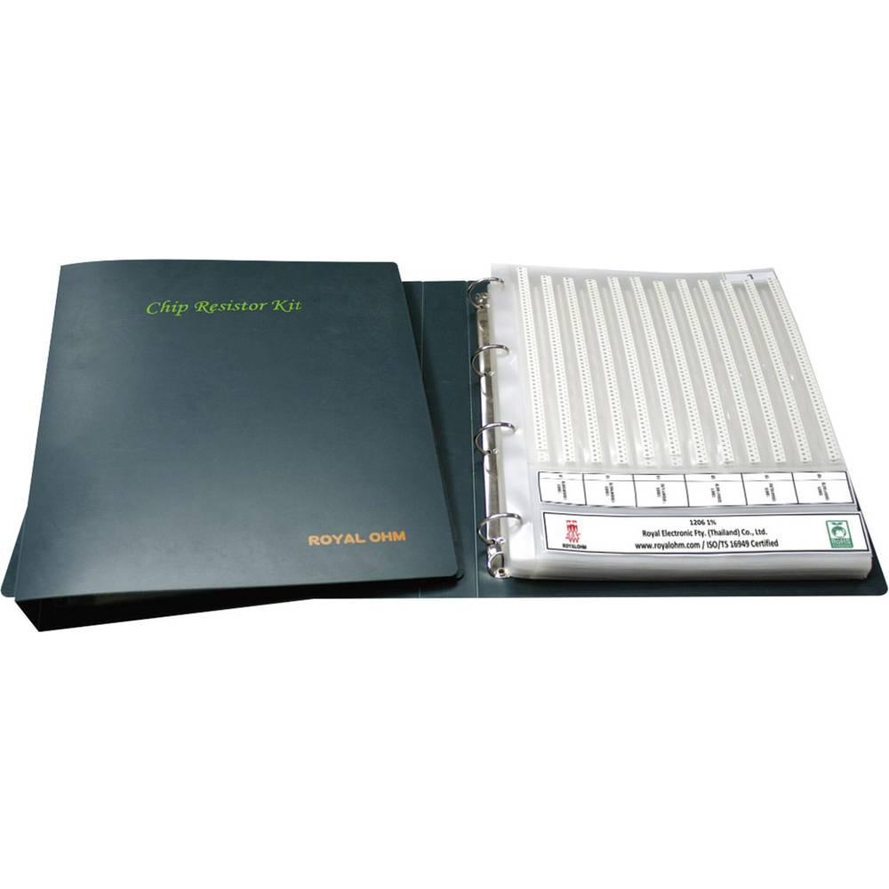 Asortiman debeloslojnih otpornika SMD 0402 0.063 W 1 % Royalohm 0402WGFE024KIT 12100 kom.