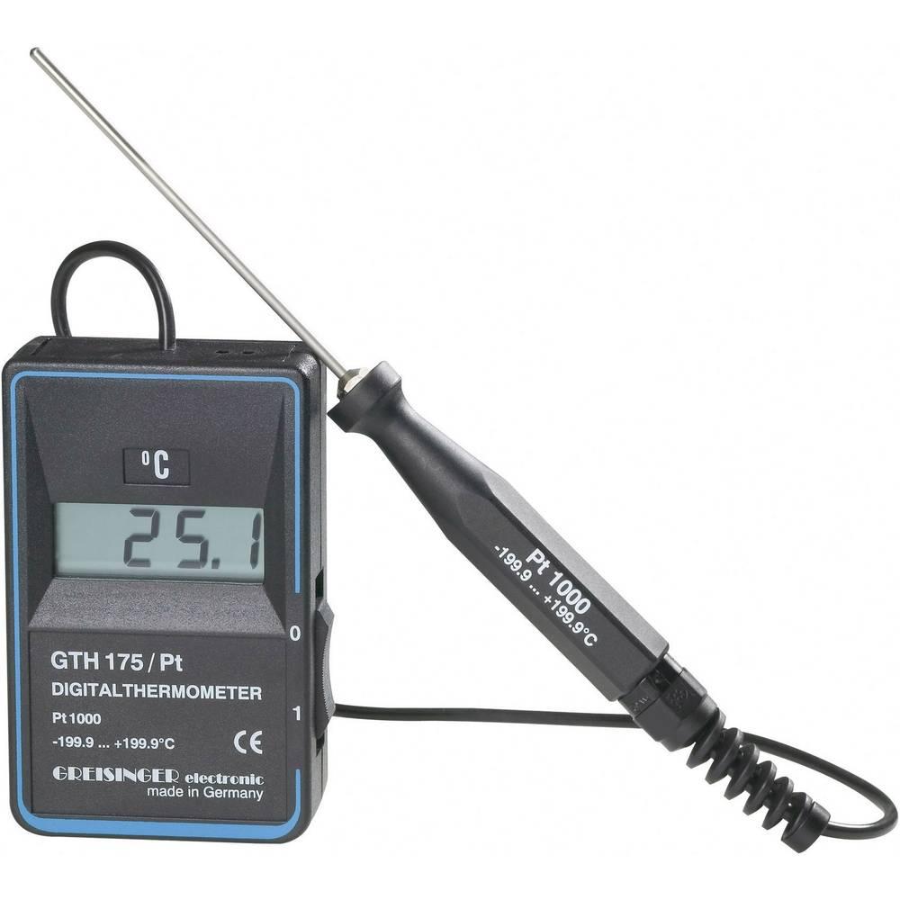 Merilnik temperature Greisinger GTH 175/PT -199.9 do +199.9 °C vrsta tipala: Pt1000 kalibracija narejena po: delovnih standardih
