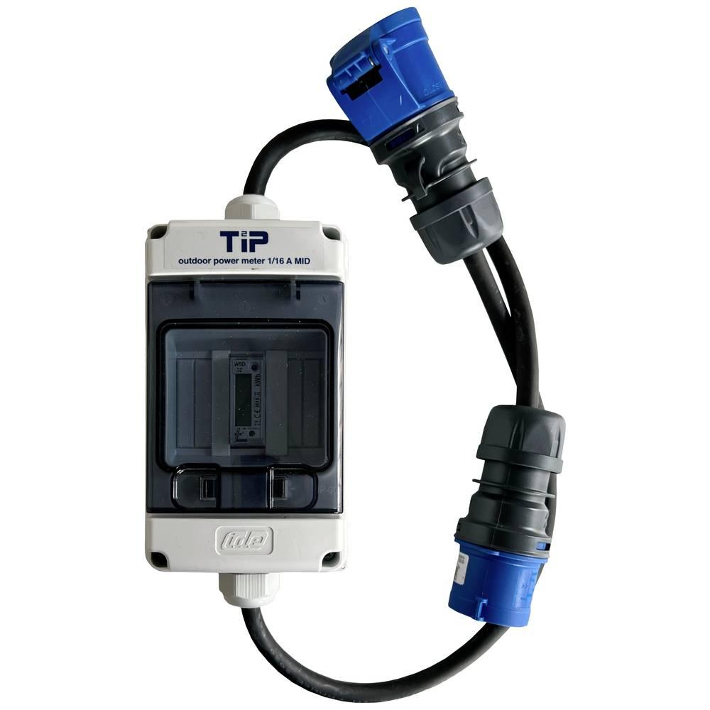 TIP 1/16CEE Priključek MID 1PH16A CEE zunanji merilnik energijske porabe, kabelski digitalni fazni merilnik do 999999.9 kWh
