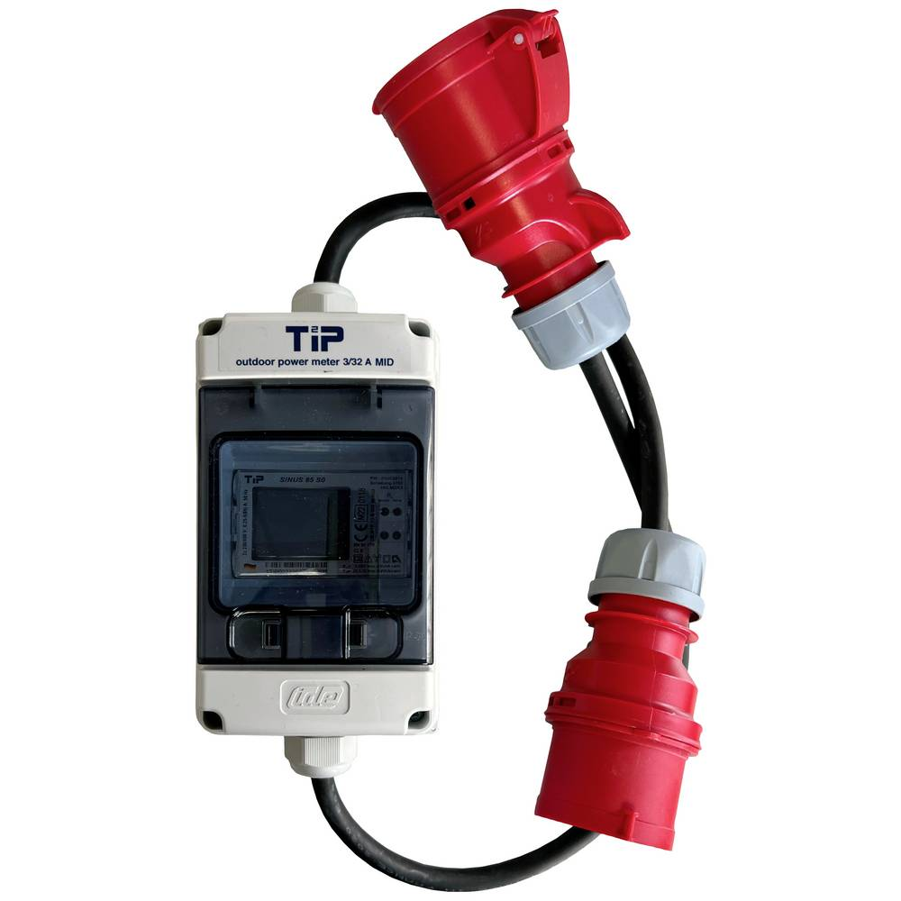 TIP 3/32CEE Priključek MID 3PH32A CEE zunanji merilnik energijske porabe, kabelski trifazni digitalni merilnik 999999.9 kWh