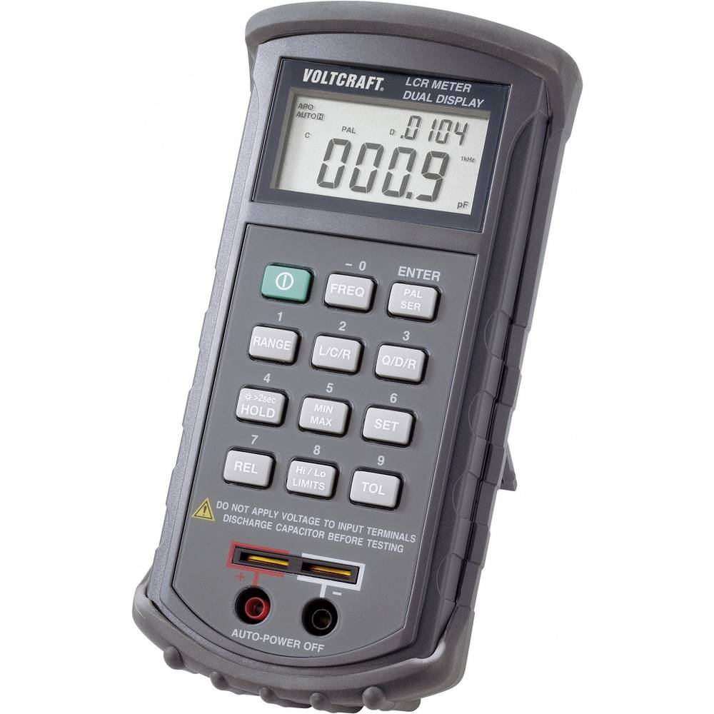 Tester komponent digitalen VOLTCRAFT LCR 4080 kalibriran po: ISO CAT I prikazovalnik (št. mest na zaslonu): 20000