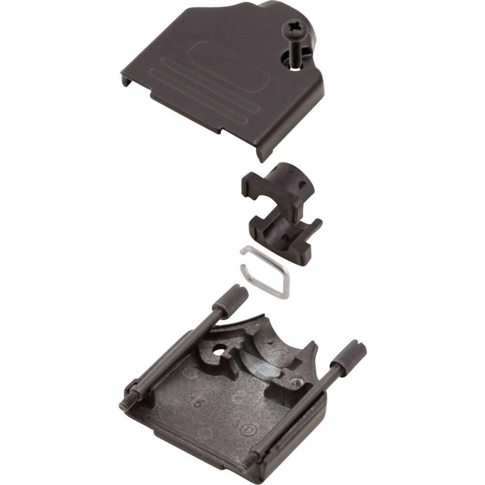 D-SUB ohišje, število polov: 25 kovinska 180 ° črne barve MH Connectors MHDTZK25-BK-K 1 kos
