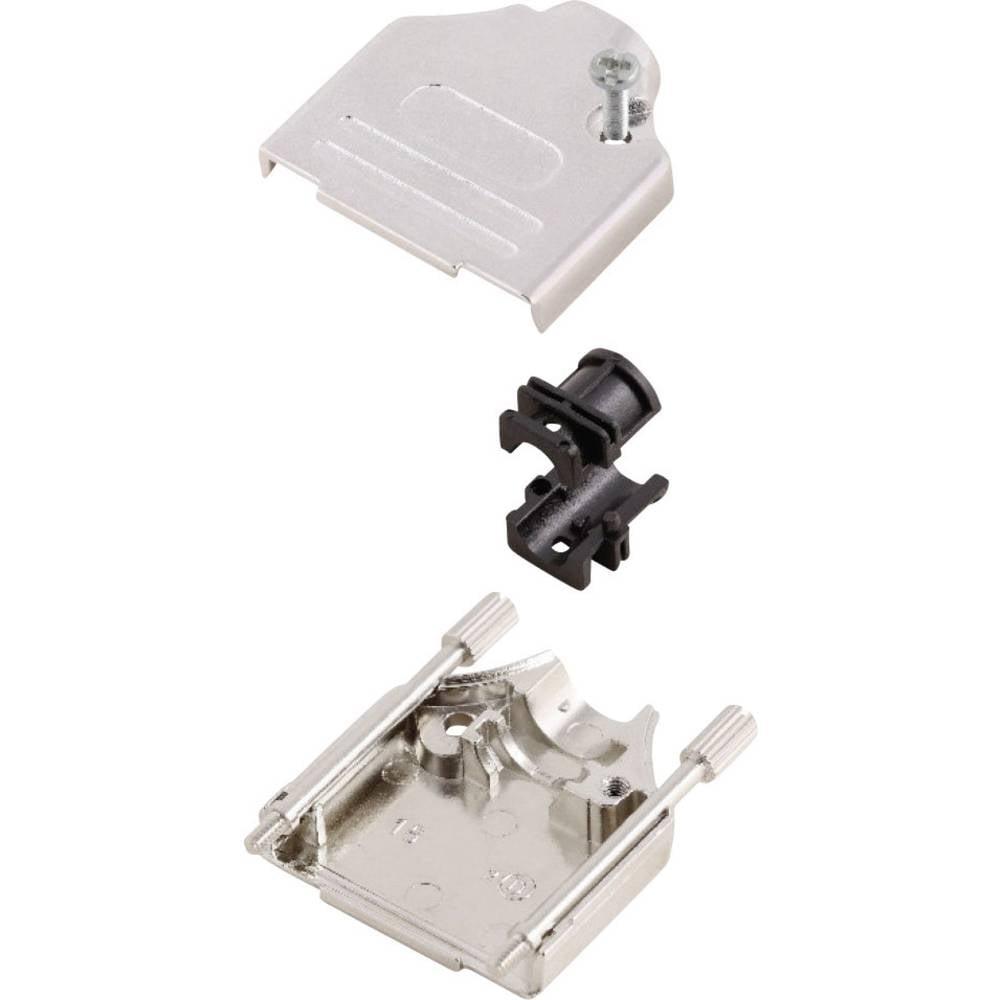 D-SUB ohišje, število polov: 15 kovinska 180 ° srebrne barve MH Connectors MHDTZK15-RA-PC-K 1 kos