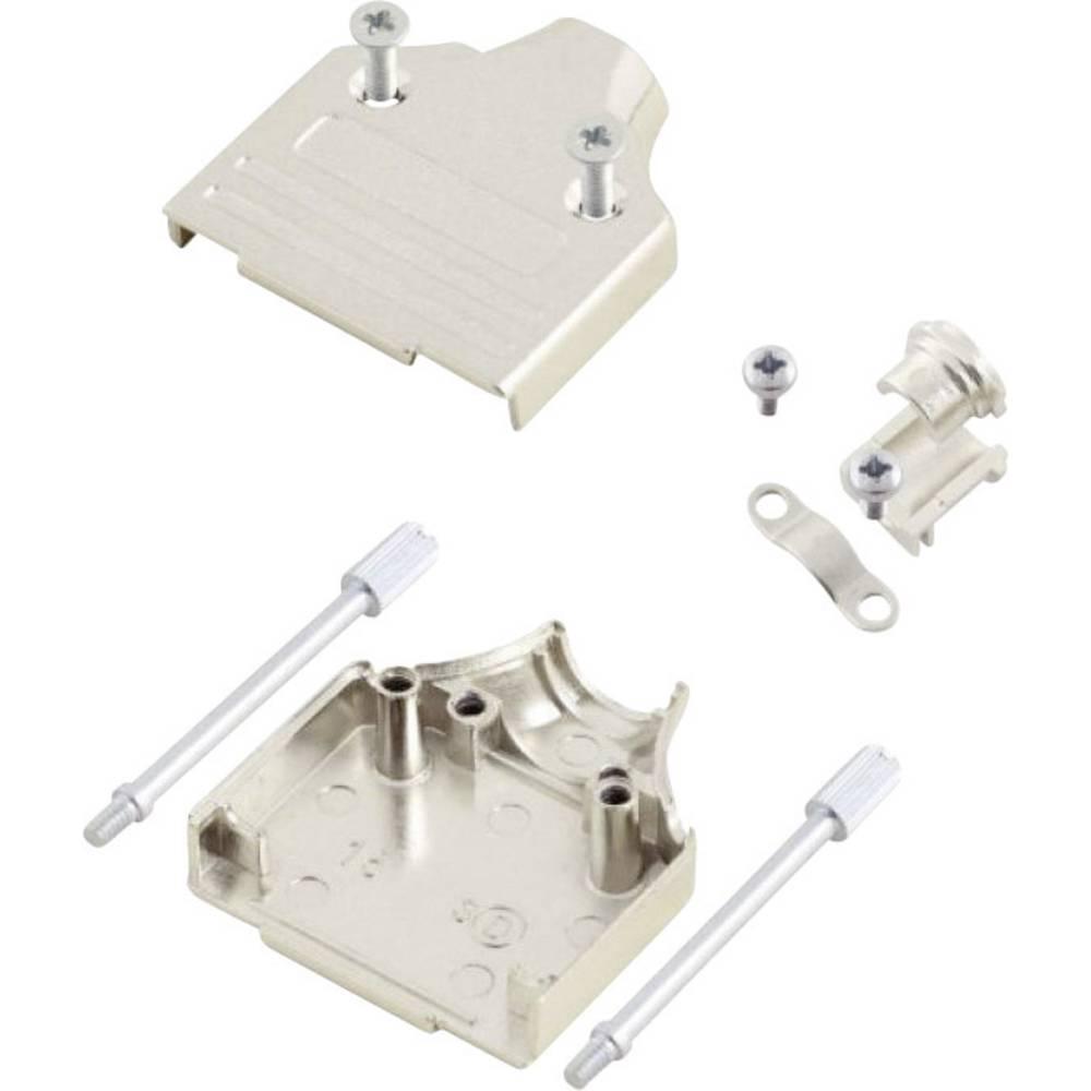 D-SUB ohišje, število polov: 9 kovinska 180 ° srebrne barve MH Connectors MHDM9-K 1 kos